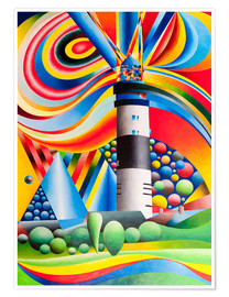 Plakat Sylt, Lighthouse Kampen