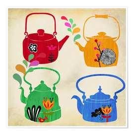 Plakat Vintage tea kettle