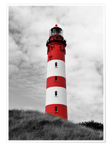 Plakat Lighthouse in Amrum, Germany