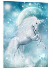 Obraz na szkle akrylowym  Unicorn on my way - Dolphins DreamDesign