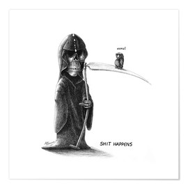 Plakat Shit Happens - Death and Little Fogey