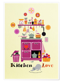 Plakat Kitchen Love