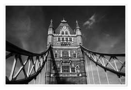 Plakat London Tower Bridge monochrome