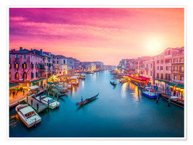 Plakat Venice sunset