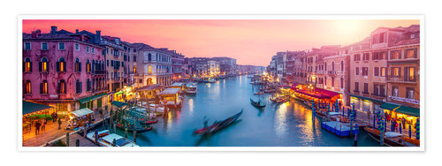 Plakat Venice panorama at sunset