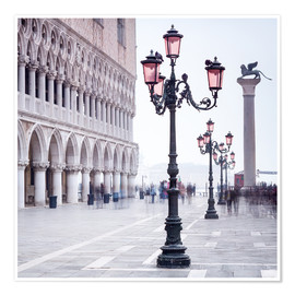 Plakat St. Mark's Square in Venice in Winter