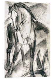 Obraz na szkle akrylowym  Young horse in mountain landscape - Franz Marc