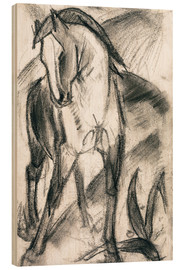 Obraz na drewnie  Young horse in mountain landscape - Franz Marc