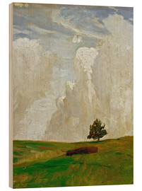 Obraz na drewnie  Mountains of clouds - Otto Modersohn