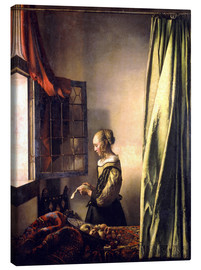 Obraz na płótnie  Girl reading a letter at an open window - Jan Vermeer
