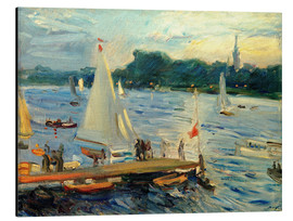 Obraz na aluminium  Sailboats on the Alster Lake in the evening - Max Slevogt