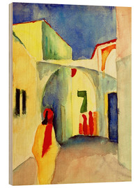 Obraz na drewnie  Alley in Tunis - August Macke