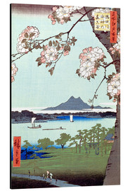 Obraz na aluminium  Masaki and the Suijin Grove by the Sumida River - Utagawa Hiroshige