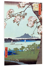 Obraz na PCV  Masaki and the Suijin Grove by the Sumida River - Utagawa Hiroshige