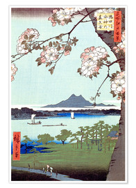 Plakat Masaki and the Suijin Grove by the Sumida River