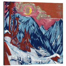 Obraz na aluminium  Winter moonlit night - Ernst Ludwig Kirchner