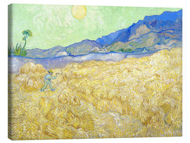 Obraz na płótnie  Wheat Field with Reaper at sunrise - Vincent van Gogh
