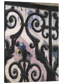 Obraz na aluminium  View through balcony grill - Gustave Caillebotte