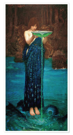 Plakat  Circe Invidiosa - John William Waterhouse