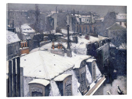 Obraz na szkle akrylowym  Rooftops in the snow - Gustave Caillebotte