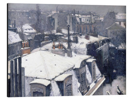 Obraz na aluminium  Rooftops in the snow - Gustave Caillebotte