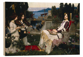 Obraz na drewnie  Saint Cecilia - John William Waterhouse