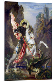 Obraz na szkle akrylowym  St. George and the Dragon - Gustave Moreau
