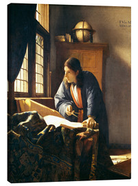 Obraz na płótnie  A geographer or astronomer in his study - Jan Vermeer