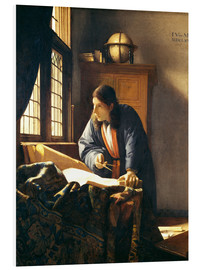Obraz na PCV  A geographer or astronomer in his study - Jan Vermeer