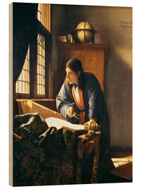 Obraz na drewnie  A geographer or astronomer in his study - Jan Vermeer