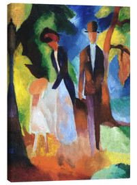 Obraz na płótnie  People at the blue lake - August Macke