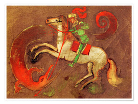 Plakat  Knight George and dragon - August Macke