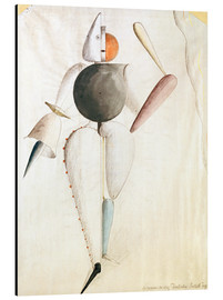 Obraz na aluminium  Design for the Triadic Ballet - Oskar Schlemmer