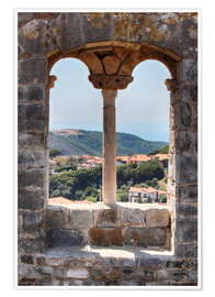 Plakat  A view through the window in Tuscany, Italy - Filtergrafia