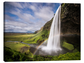 Obraz na płótnie  Sejalandsfoss Waterfall with Rainbow - Andreas Wonisch