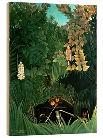 Obraz na drewnie  The monkeys - Henri Rousseau
