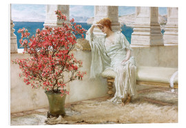 Obraz na PCV  Her eyes are with her thoughts and they are far away - Lawrence Alma-Tadema