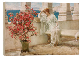 Obraz na drewnie  Her eyes are with her thoughts and they are far away - Lawrence Alma-Tadema