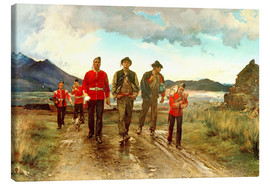 Obraz na płótnie  'Listed for the Connaught Rangers': Recruiting in Ireland, 1878 - Lady Butler