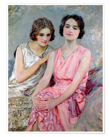 Plakat Two Young Women Seated