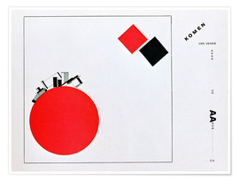 Plakat  The Story of Two Squares - El Lissitzky