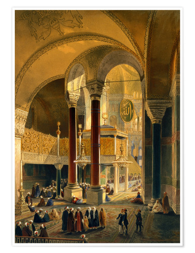 Plakat Haghia Sophia, Imperial Gallery and Box