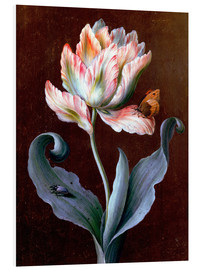 Obraz na PCV  Parrot tulip with butterfly and beetle - Barbara Regina Dietzsch
