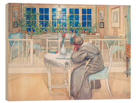 Obraz na drewnie  The Evening Before the Journey to England - Carl Larsson