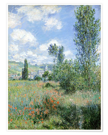 Plakat  Way through the poppies - Claude Monet