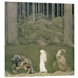 Obraz na PCV  The Princess and the Trolls, 1913 - John Bauer