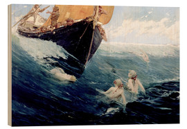 Obraz na drewnie  Mermaids Rock, 1894 - Edward Matthew Hale