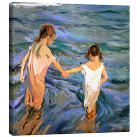 Obraz na płótnie  Children in the Sea - Joaquín Sorolla y Bastida