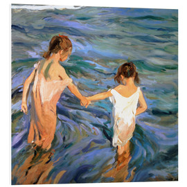 Obraz na PCV  Children in the Sea - Joaquín Sorolla y Bastida