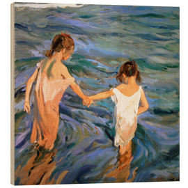 Obraz na drewnie  Children in the Sea - Joaquín Sorolla y Bastida